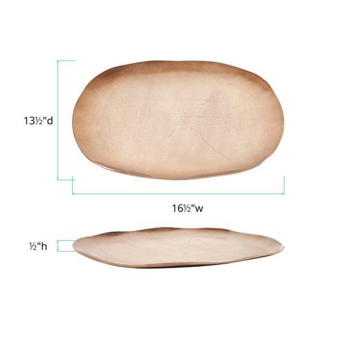 Howard Elliott - Bronze Aluminum Organic Oval Platter