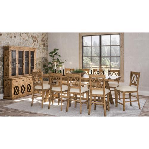 Telluride Trestle Table & 4 Stools Natural Pine