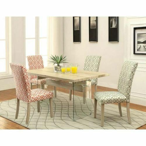 Acme Furniture Inc - ACME Glassden Side Chair (Set-2) - 71909 - Orange & Light Oak