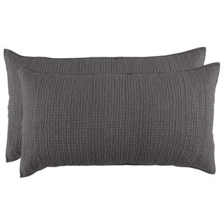 Danica Charcoal 2Pc King Sham Set