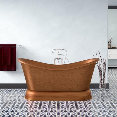 "Product Image - Barnes 66"" Copper Double Slipper Tub"
