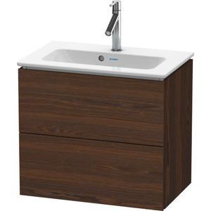 Vanity Unit Wall-mounted Compact, Brushed Walnut (real Wood Veneer)