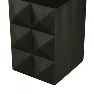 Stud Side Table/Wood/Matte Black/25*16*23