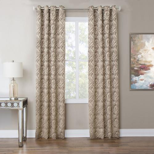Amini - Batavia 50x84 Grommet Top Panel Weighted Corners Taupe