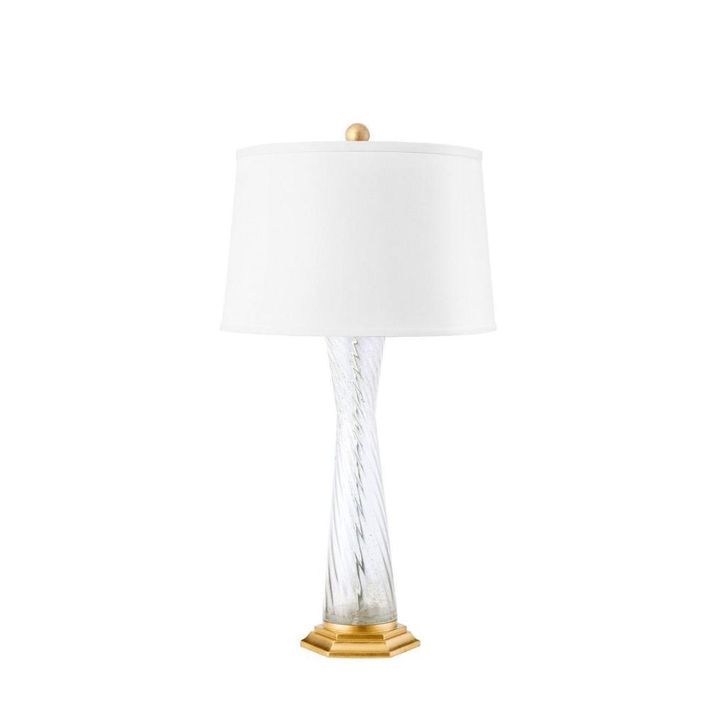 Farnese Lamp, Clear & Gold Leaf