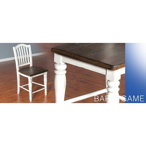 "24""H Bourbon County Slatback Barstool w/ Wood Seat"
