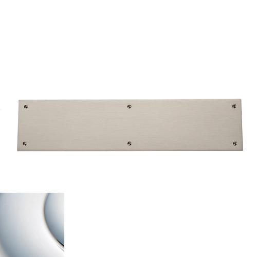 Polished Chrome Square Edge Push Plate