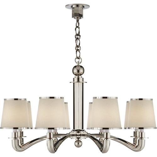 AERIN Tuileries 8 Light 36 inch Polished Nickel Chandelier Ceiling Light