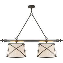 E. F. Chapman Grosvenor 4 Light 51 inch Bronze Linear Pendant Ceiling Light