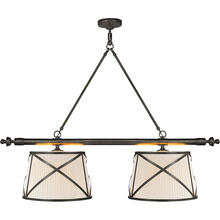 View Product - E. F. Chapman Grosvenor 4 Light 51 inch Bronze Linear Pendant Ceiling Light