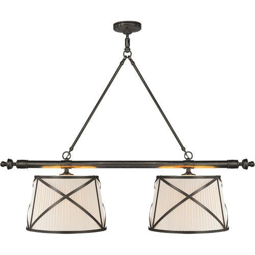 Visual Comfort - E. F. Chapman Grosvenor 4 Light 51 inch Bronze Linear Pendant Ceiling Light