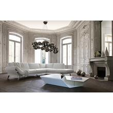 See Details - Divani Casa Lidia - Modern White Italian Leather Sectional Sofa