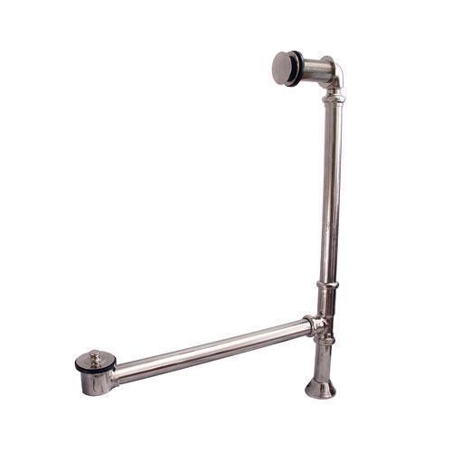 Pivoting Leg Tub Drain - Polished Nickel