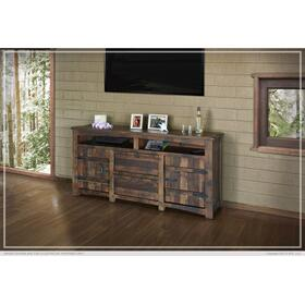 """See Details - 70"""" TV Stand w/2 Doors, 2 Drawer & 2 shelves"""