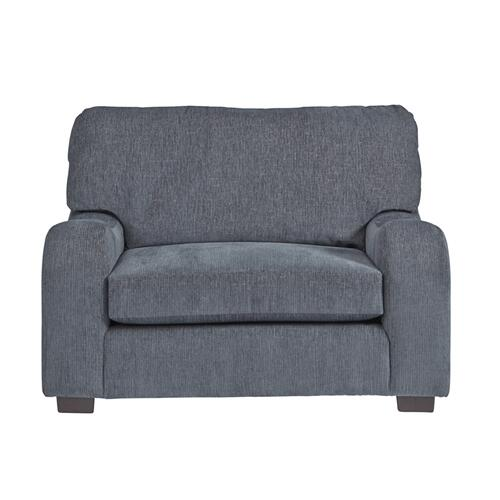 Chair \u0026 a half - Shown in 117-69 Grayish Blue Chenille Finish