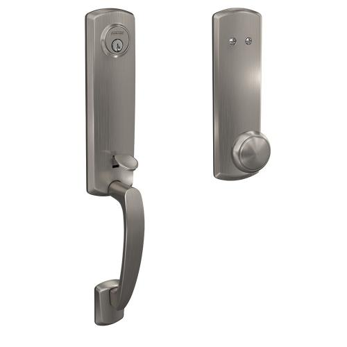 Custom Greenwich 3/4 Trim Inactive Handleset with Andover Knob - Satin Nickel