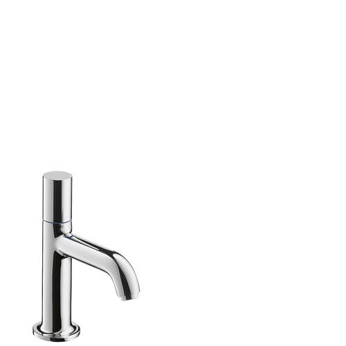 Chrome Pillar tap 70 without waste set