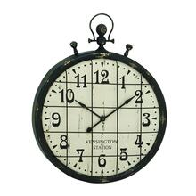 "MTL WD WALL CLOCK 39""W, 50""H"