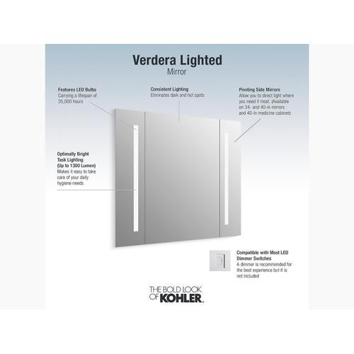 "Lighted Mirror, 40"" W X 33"" H"
