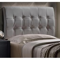 Lusso Headboard - Twin - Gray Pu (faux Leather)