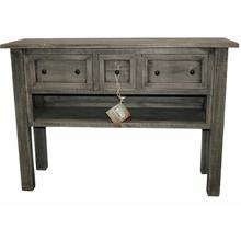 See Details - Charcoal Gray 3 Dwr Console