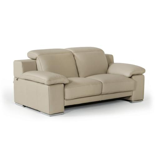 Gallery - Estro Salotti Evergreen Italian Modern Taupe Leather Sofa Set