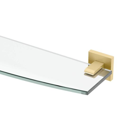 Elevate Glass Shelf in Brushed Brass