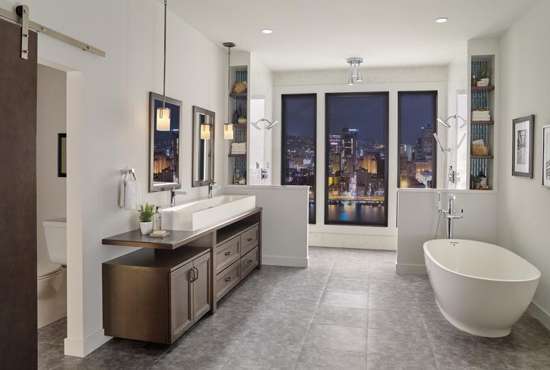 Delta Faucet Company T4774blfl Studio41 Matte Black Single Handle Floor Mount Tub Filler Trim With Hand Shower