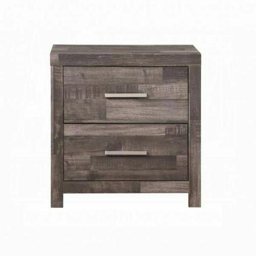 ACME Juniper Nightstand - 22163 - Transitional, Rustic - Wood (Solid Pine), Veneer (Melamine/Paper), MDF - Dark Cherry