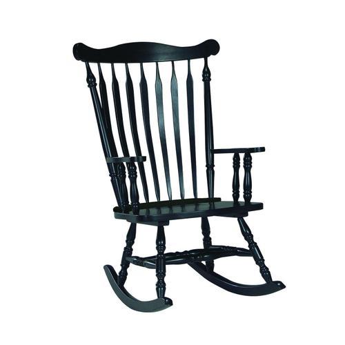 John Thomas Furniture - Colonial Rocker in Antique Black