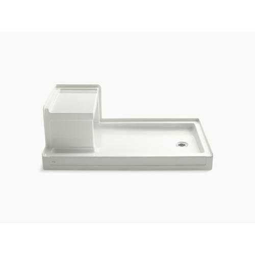 """Dune 60"""" X 36"""" Single Threshold Right-hand Drain Shower Base With Integral Left-hand Seat"""