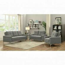 ACME Dorian Adjustable Loveseat - 52811 - Gray Linen
