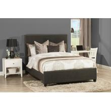 Megan King Bed- Onyx Linen