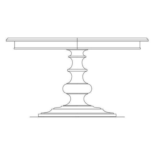 """Stanley Furniture - Portico 54"""" Round Dining Table - Shell"""