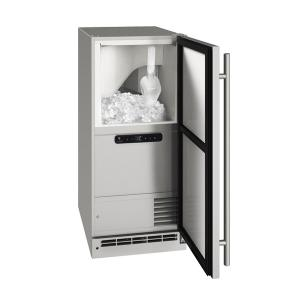 """U-LineOcl115 / Ocp115 15"""" Clear Ice Machine With Stainless Solid Finish, No (115 V/60 Hz Volts /60 Hz Hz)"""