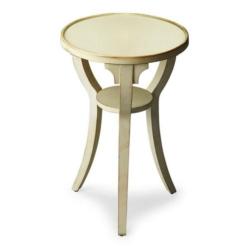Butler Specialty Company - Finished in cottage white with a contemporary flair, this table adds a splash of style to virtually any decor. Crafted from solid hardwoods and cherry veneer.