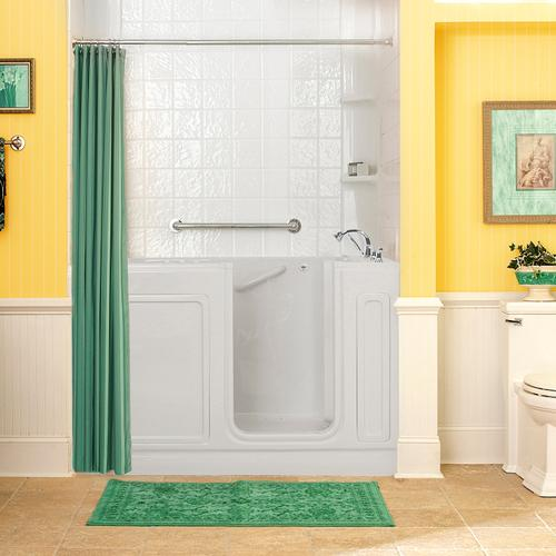 American Standard - Acrylic Luxury Series 32x60 Combination Massage Walk-in Tub with Tub Filler, Right Drain  American Standard - White