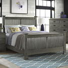 Oak Park Slat Bed  Pewter Product Image