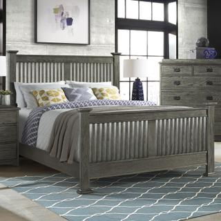 Oak Park Slat Bed  Pewter