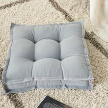 "Outdoor Pillows Qy029 Grey 18"" X 18"" X 3"" Seat Cushion"