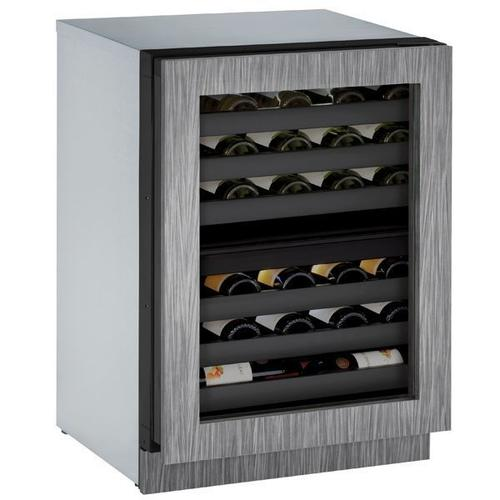 """24"""" Dual-zone Wine Refrigerator With Integrated Frame Finish and Field Reversible Door Swing (115 V/60 Hz Volts /60 Hz Hz)"""
