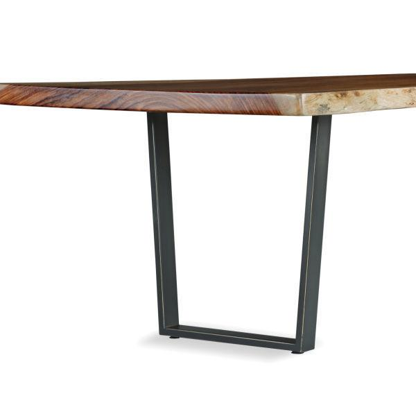 "Live Edge 30"" Dining Height Metal Trapezoid Base (base Only)"