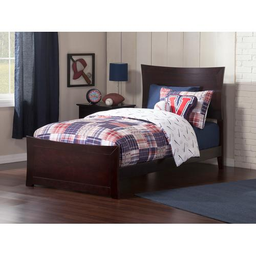 Metro Twin XL Bed with Matching Foot Board in Espresso