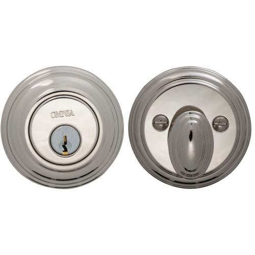 Traditional Auxiliary Deadbolt Kit in (US14 Polished Nickel Plated, Lacquered)