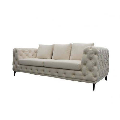 Gallery - Divani Casa Werner - Modern White Velvet Sofa