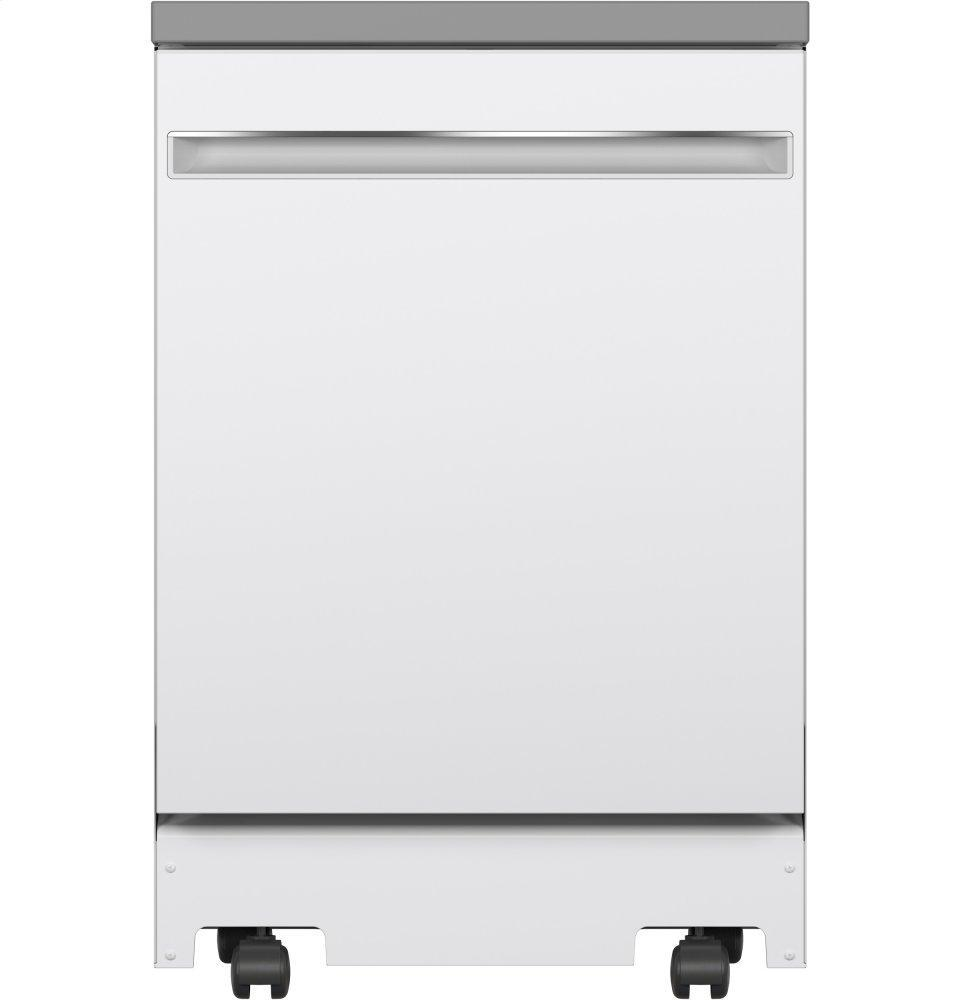 """GE24"""" Stainless Steel Interior Portable Dishwasher With Sanitize Cycle"""