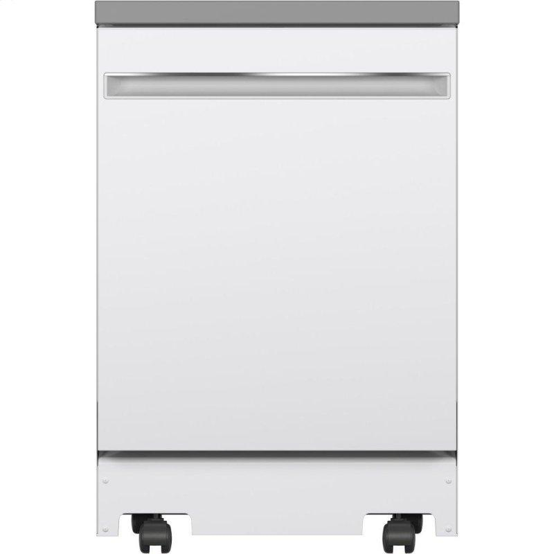 """24"""" Stainless Steel Interior Portable Dishwasher with Sanitize Cycle"""
