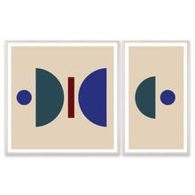 Minimal Geo I Diptych, Teague Collection