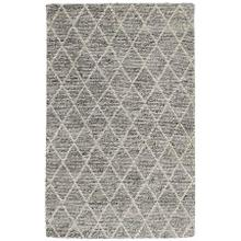 Diamond Looped Wool Gray 9x12