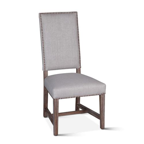 Darcy Dining Chair Greige Linen Driftwood Finish
